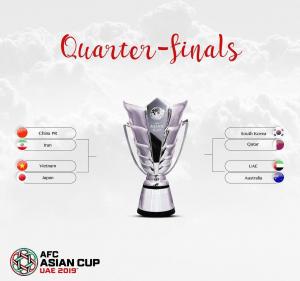 رقابت یک چهارم نهایی جام ملت های آسیا