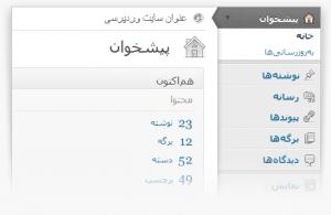 وردپرس فارسی - پیشخوان