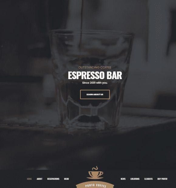قالب شخصی کافه پورتو