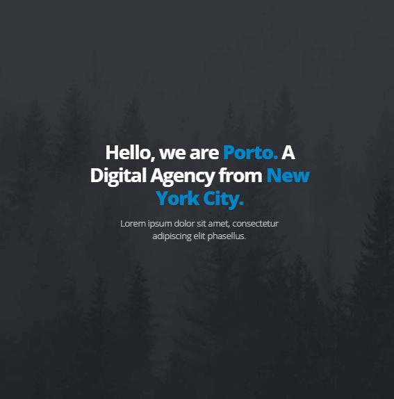 قالب نمونه کار شرکتی پورتو